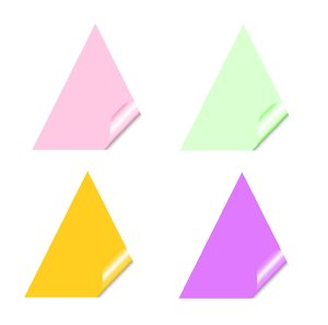 Stickers 6 Triangles