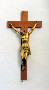 Aalum Church detail - crucifix