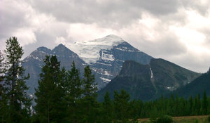 Cloudy Mountain: Taken in summer 2006 near Jasper, Canada.