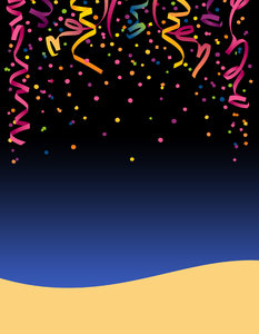 Confetti Flyer: A background for a party flier. Visit me at Dreamstime: 