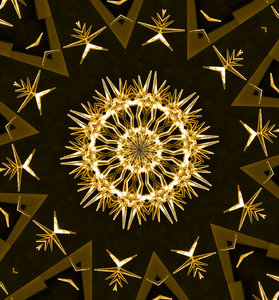 crystal gold: abstract backgrounds, textures, patterns, geometric patterns, kaleidoscopic patterns, circles, shapes and  perspectives from altering and manipulating image