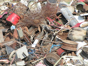 recycle: metal junk in Romania