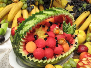 fruit sculpture