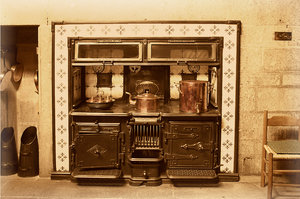 Old style Kitchen Range: Old style Kitchen Range  in an old style photograph.