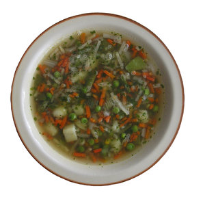 A plate of soup