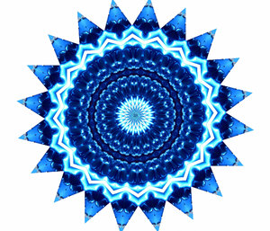 blue star radiating