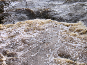 dirty river water