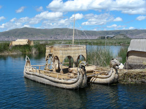 reed boat: lake titicaca