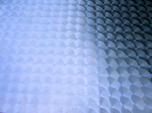 blue metal shapes texture