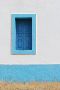 architecture details 1: architecture detail in vivid colours - window