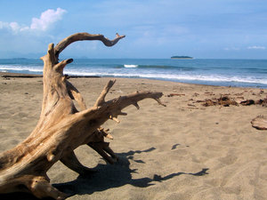 Padang beach: Pasir Jambak beach, Padang, Sumatra, Indonesia. The beautiful beach was almost empty  because of a tsunami-alarm.