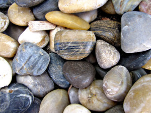stoney colours: colourful garden pebbles and rocks