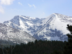 Colorado: Some shots of the mountains from our lodge in Estes Park, Colorado.