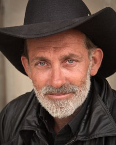 Cowboy Portrait: Color portrait of cowboy