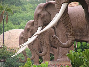 Elephant Statues: Elephant Statues at the valley of the waves at Sun City South Africa