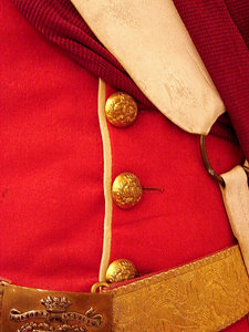 English dress: An old english dress of Queen's soldiers