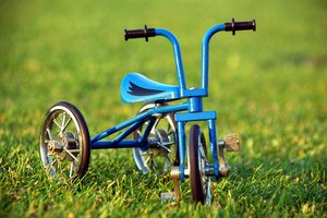 Tricycle on the grass 1