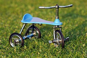 Tricycle on the grass 3