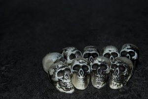 Skull Background: A few dead skulls waiting for some dark poetic words to be placed near by. Higher Resolution available.