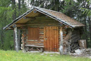 Alpine log cabin
