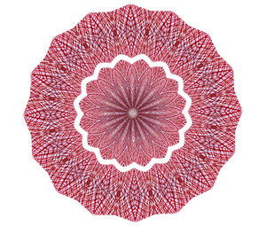red mesh mandala