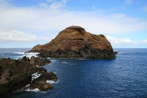 Rocky island: A rocky island off the northern coast of Madeira.