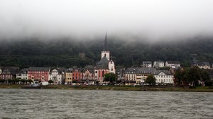 Germany 2010:  Fog over Sankt Goarhausen