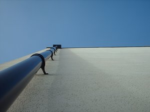 Drain pipe in perspective