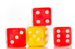 Dice: red and yellow dice