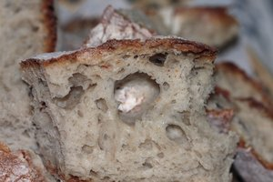 Wheat bread texture