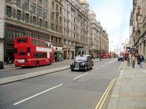 london street scenery
