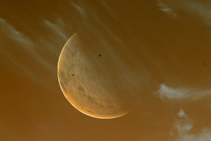 Giant Moon Sepia
