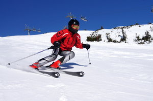 Skier: My daughter in action
