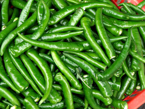 hot green chillies