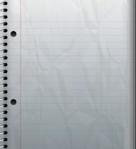 Crumpled Notebook With Lines