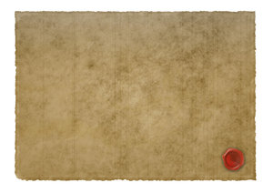 Parchment paper and scrolls