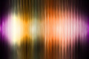 Sound of Colors 2: Colored stripes on a gray and black background