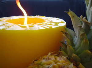 Pineapple and Candle