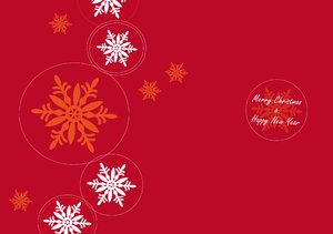 Christmascard with circles
