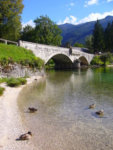 Lake Bohinj, Slovenia 3: The beautiful Lake Bohinj (Bohinjsko jezero) in the Triglav National Park in Slovenia.