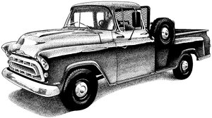 Truck: A pen and ink illustration of a vintage pick up truck.Please support my workby visiting the sites wheremy images can be purchased.Please search for 'Billy Alexander'in single quotes atwww.thinkstockphotos.comI also have some stuff atdreamstime - Billyruth