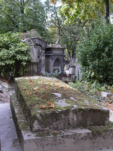 moss-covered grave