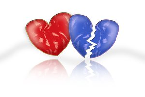Red and blue heart