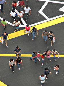 angle on pedestrians