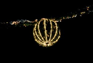 Christmas decoration Wreath: Christmas decoration Wreath lighten at night