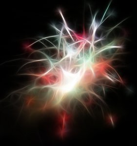 Fractal Fireworks: A bright fractal firework pattern in vivid colours. Suitable as a New Year background or backdrop, wallpaper or desktop, among other things.