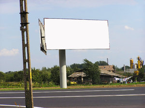 Billboard: A steet billboard.