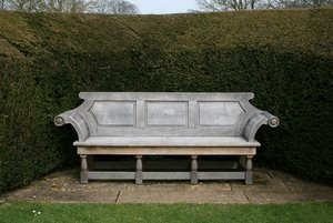Ornate garden bench