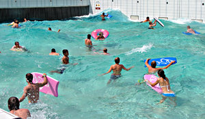 fun in the wave pool