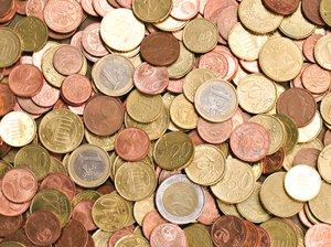 euro coins texture 2
